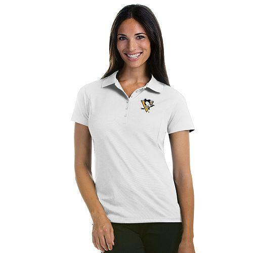 Antigua Women's Pittsburgh Penguins Pique Xtra Lite Polo