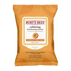 Burt's Bees Facial Peach & Willowbark Exfoliating Cleansing Towelettes