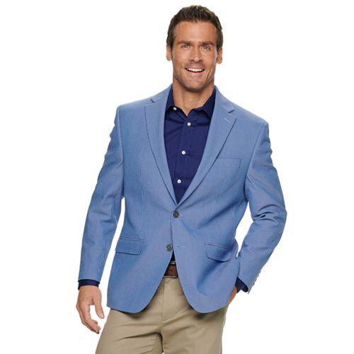 Men's Chaps Classic-Fit Seersucker Stretch Sport Coat
