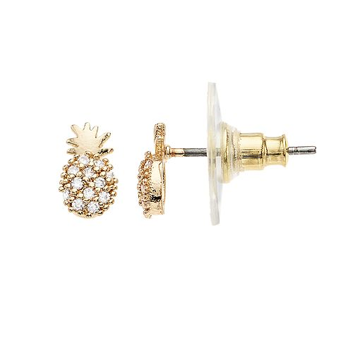 LC Lauren Conrad Pineapple Stud Earrings