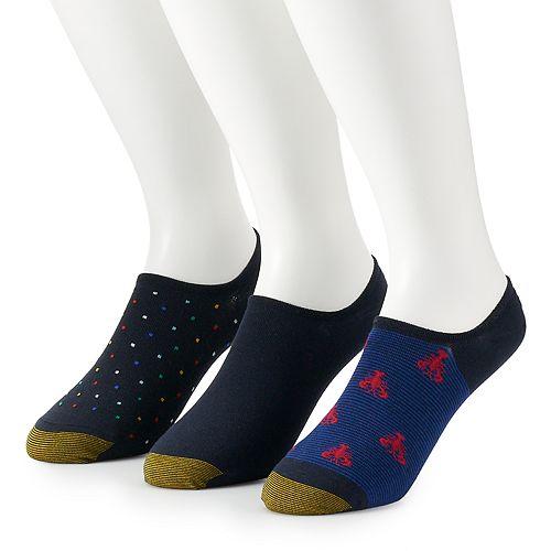 Men's GOLDTOE 3-pack Sta-Cool Tech Ultra-Low Oxford Liner Socks