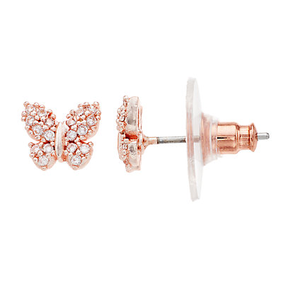 LC Lauren Conrad Cubic Zirconia Butterfly Stud Earrings