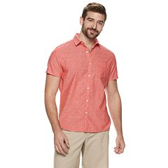 99792eadb Men's Marc Anthony Slim-Fit Linen-Blend 1-Pocket Button-Down Shirt