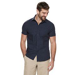 74bbfa4bf29 Men's Marc Anthony Slim-Fit Linen-Blend 1-Pocket Button-Down Shirt