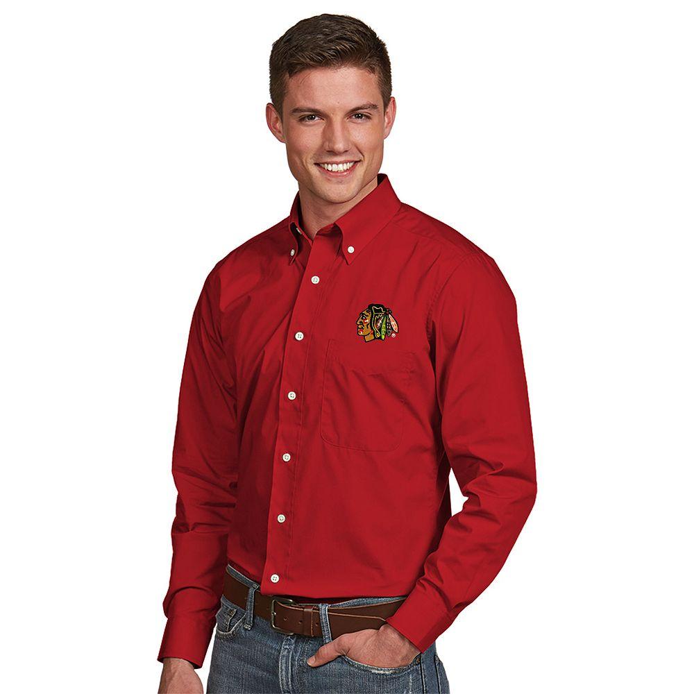 Men's Antigua Chicago Blackhawks Dynasty Button-Down Shirt