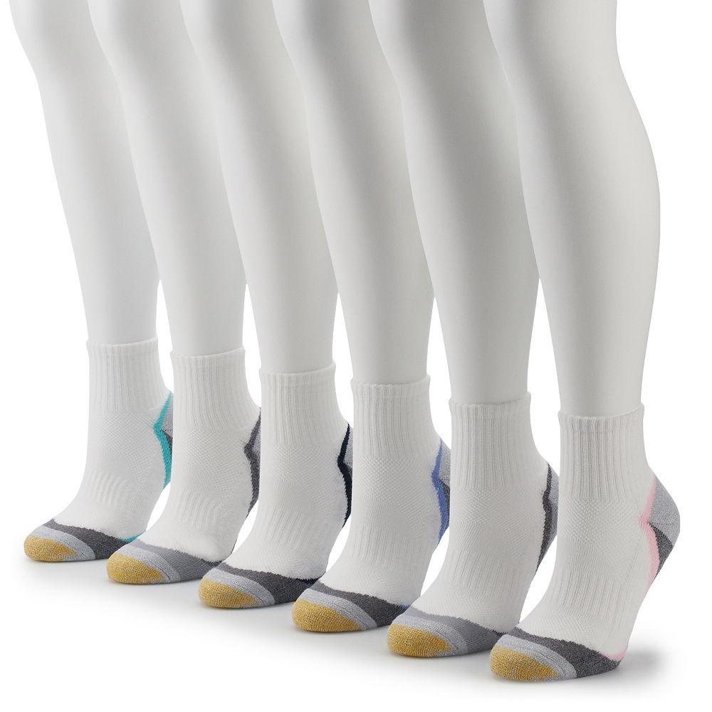 Women's GOLDTOE® 6-Pack Premium Sport Quarter Socks