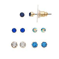 LC Lauren Conrad Blue Stud Earring Set