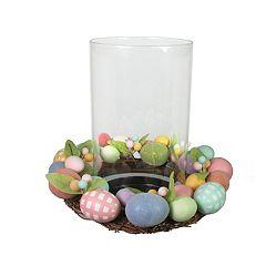 Celebrate Easter Together Glass Hurricane Candle Holder