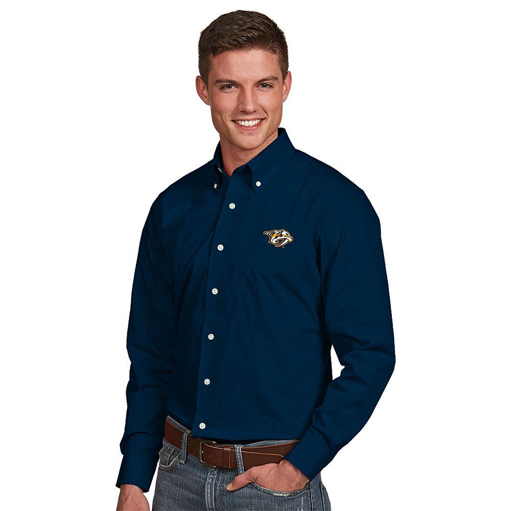 Men's Antigua Nashville Predators Dynasty Button-Down Shirt