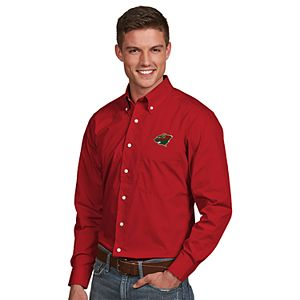 Men's Antigua Minnesota Wild Dynasty Button-Down Shirt