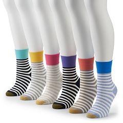 Women's GOLDTOE® Ultra Soft 6-pk. Striped Crew Socks