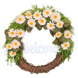 Celebrate Easter Together Daisy Wreath