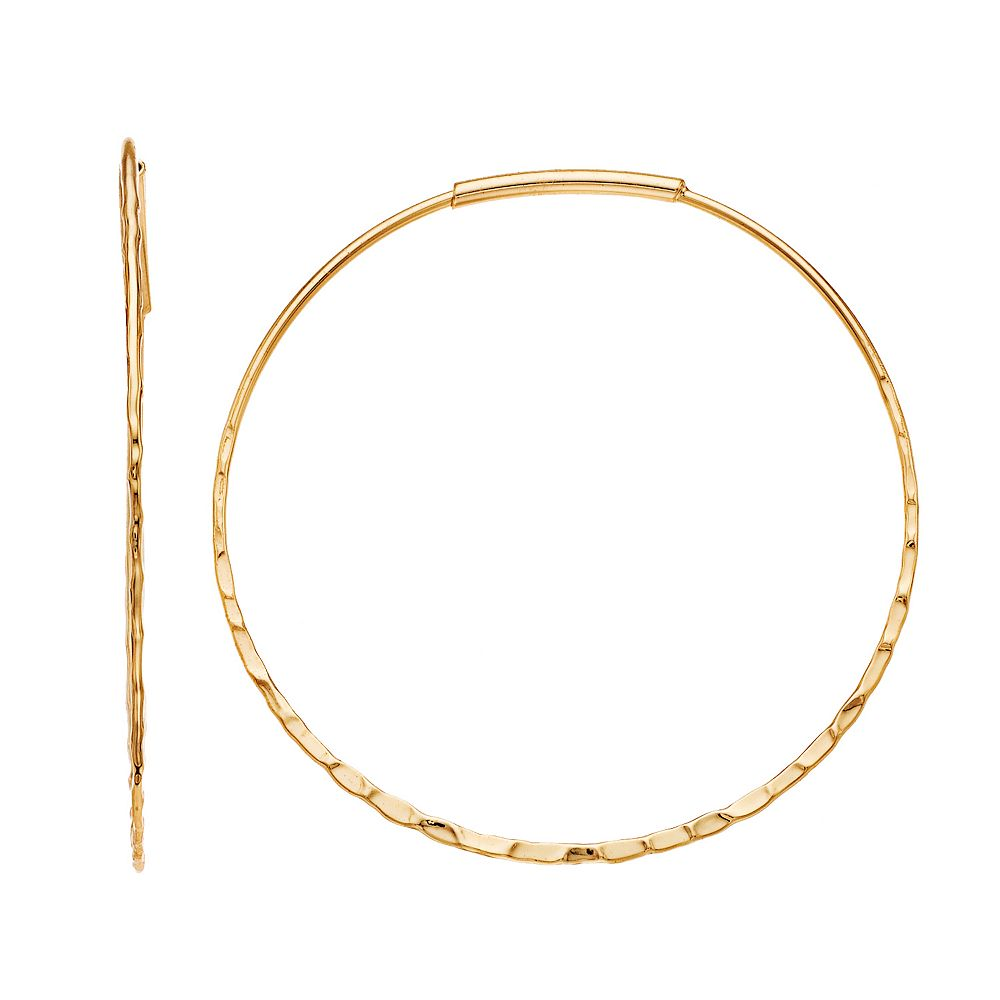 SONOMA Goods for Life® Gold Tone Hammered Textured Hoop Earrings