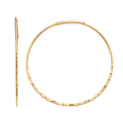 SONOMA Goods for Life? Gold Tone Hammered Textured Hoop Earrings