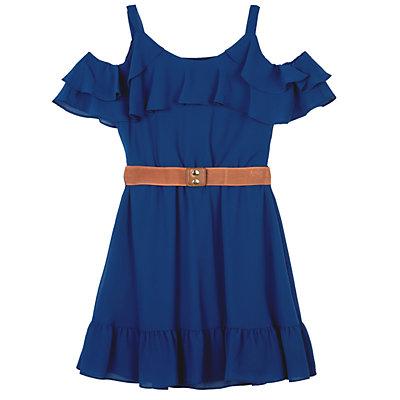 Girls 7-16 & Plus Size IZ Amy Byer Cold-SHoulder Ruffle Dress