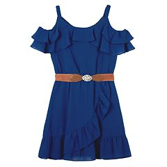86738780ff10 Girls 7-16   Plus Size IZ Amy Byer Cold-SHoulder Ruffle Dress