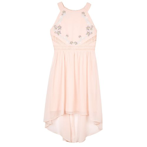 Girls 7-16 & Plus IZ Amy Byer Embellished High-Low Halter Dress