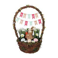 Celebrate Easter Together Bunny Basket Table Decor