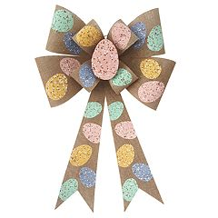 Celebrate Easter Together Easter Egg Bow Wall Decor