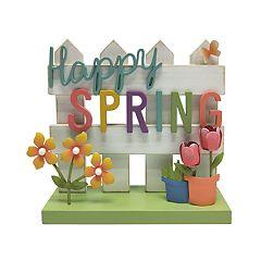 Celebrate Easter Together Spring Fence Floor Decor