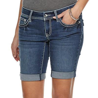 Women's Apt. 9® Embellished Denim Bermuda Shorts