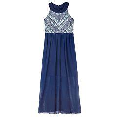 Girls 7-16 IZ Amy Byer Mitered Maxi Dress