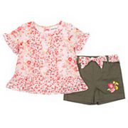 Girls 4-6x Little Lass 2-Piece Floral Chiffon Shorts Set