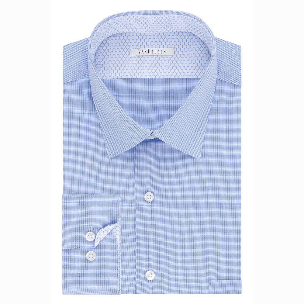Men's Van Heusen Air Stretch Fitted Point-Collar Dress Shirt