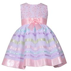 Girls 4-6x Bonnie Jean Embroidered Organza Dress