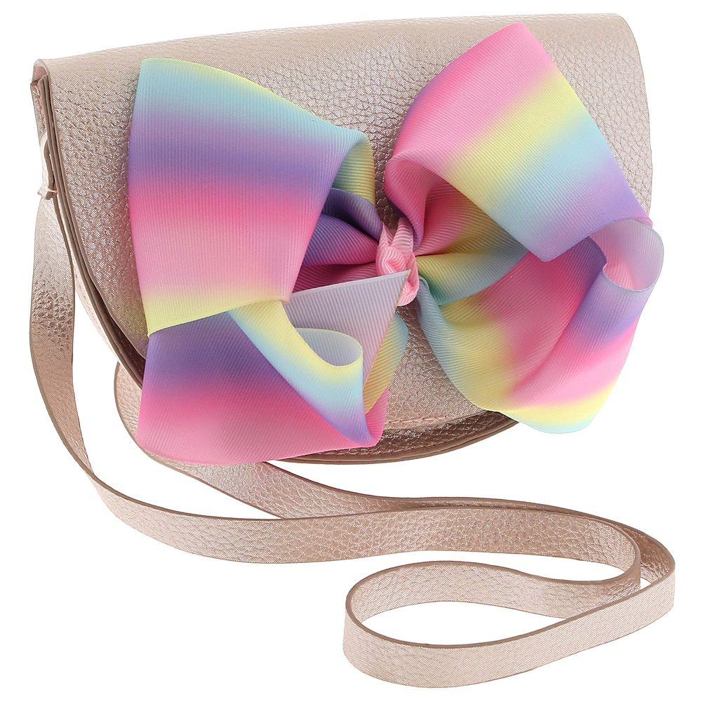 Elli by Capelli Shimmer Bow Crossbody Purse