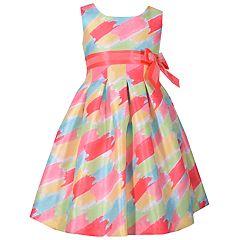Girls 4-6x Bonnie Jean Watercolor Shantung Dress