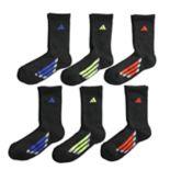 Boys 4-20 adidas Vertical Stripe 6-Pack Crew Socks