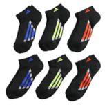 Boys 4-20 adidas Vertical Stripe 6-Pack Low-Cut Socks