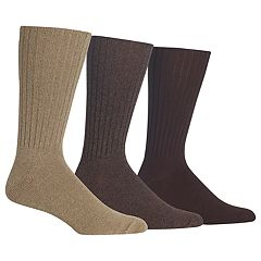 Men's Chaps 3-pack Classics Solid Ribbed Crew Socks