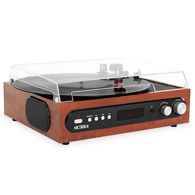 Victrola All-in-1 Bluetooth Record Player with Built in Speakers & 3-Speed Turntable