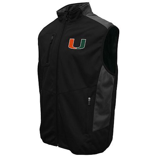 Men's Franchise Club Miami Hurricanes Peak Softshell Vest
