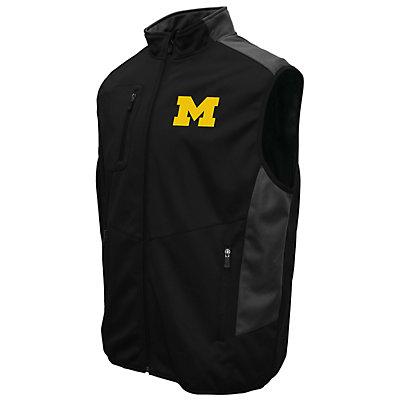 Men's Franchise Club Michigan Wolverines Peak Softshell Vest