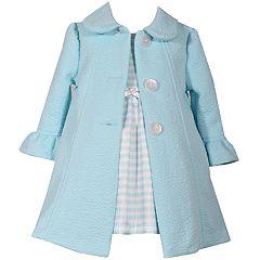 Girls 4-6x Bonnie Jean Striped Dress   Coat Set da0ad287c569