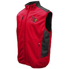 Men's Franchise Club Louisville Cardinals Peak Softshell Vest