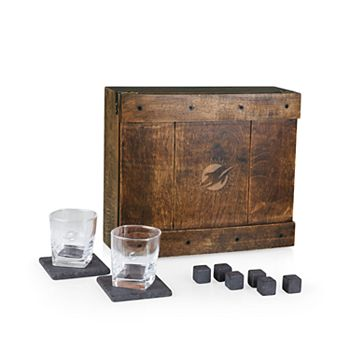 Miami Dolphins Whiskey Box Gift Set