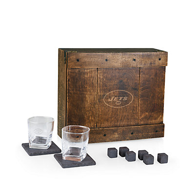 New York Jets Whiskey Box Gift Set