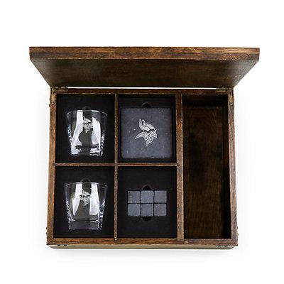 Minnesota Vikings Whiskey Box Gift Set