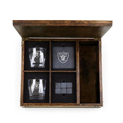 Oakland Raiders Whiskey Box Gift Set