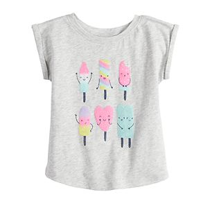 Baby Girl Jumping Beans® Roll-Cuff Tee