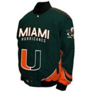 Men's Franchise Club Miami Hurricanes Defend Twill Jacket