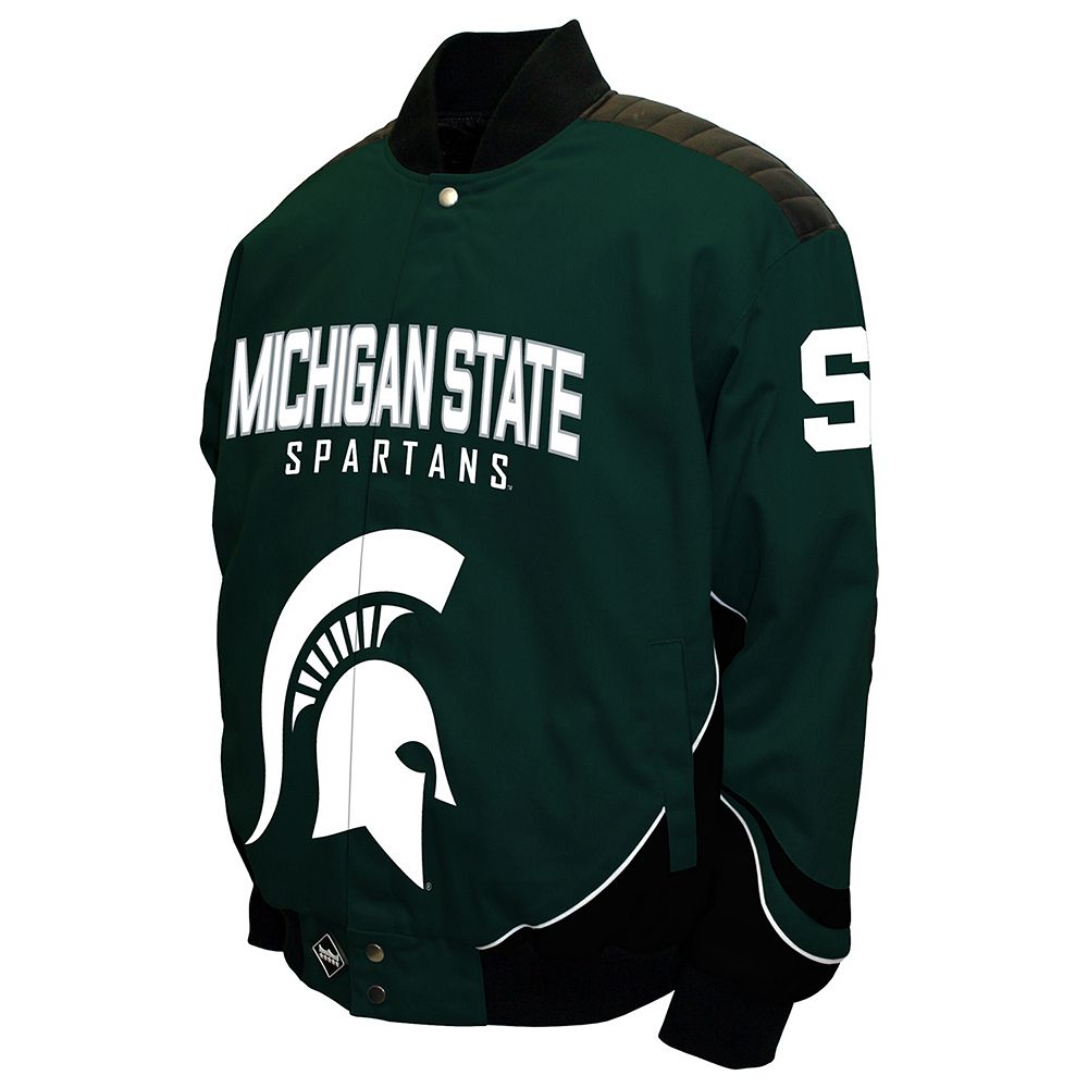 Men's Franchise Club Michigan State Spartans Defend Twill Jacket