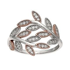 PRIMROSE Two-Tone Cubic Zirconia Pave Vine Band Ring