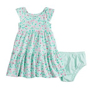 Baby Girl Jumping Beans® Tiered Print Dress