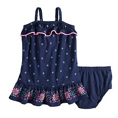 Baby Girl Jumping Beans® Floral Ruffled Dress