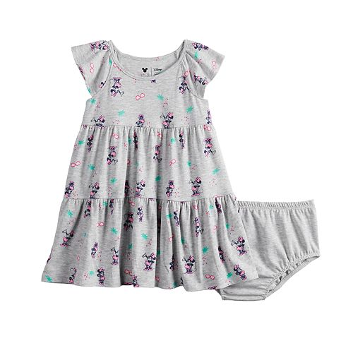 Disney's Minnie Mouse Baby Girl Print Tiered Dress by Jumping Beans®